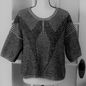 Mossimo Gray Heather Short Sleeve Pullover Sweater